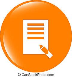 Edit document sign icon. Edit content button. Modern UI website button