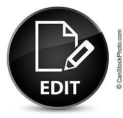 Edit elegant black round button