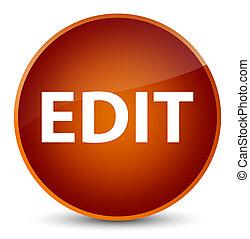 Edit elegant brown round button