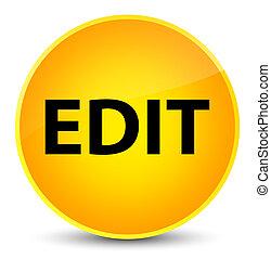 Edit elegant yellow round button