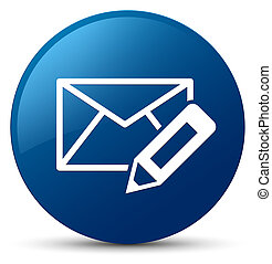 Edit email icon blue round button