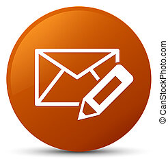Edit email icon brown round button