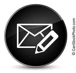 Edit email icon elegant black round button