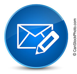 Edit email icon elegant blue round button