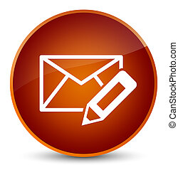 Edit email icon elegant brown round button