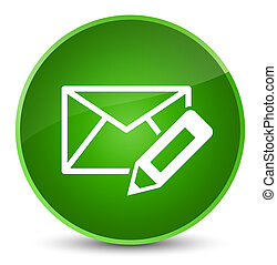 Edit email icon elegant green round button