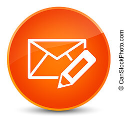 Edit email icon elegant orange round button