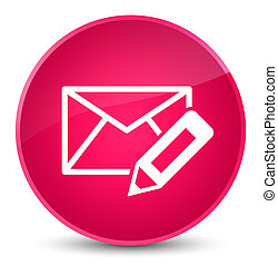 Edit email icon elegant pink round button