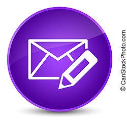 Edit email icon elegant purple round button