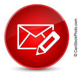 Edit email icon elegant red round button