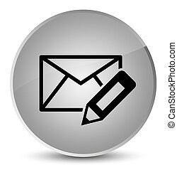 Edit email icon elegant white round button