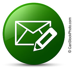 Edit email icon green round button