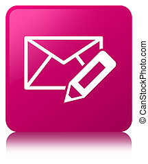 Edit email icon pink square button