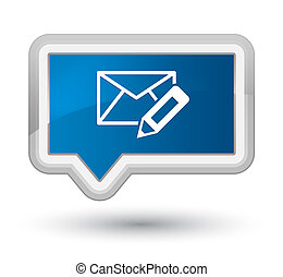 Edit email icon prime blue banner button