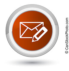 Edit email icon prime brown round button
