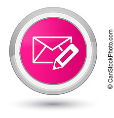 Edit email icon prime pink round button