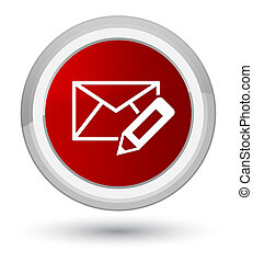 Edit email icon prime red round button