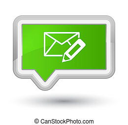 Edit email icon prime soft green banner button