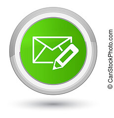 Edit email icon prime soft green round button