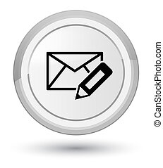 Edit email icon prime white round button