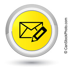 Edit email icon prime yellow round button