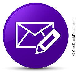 Edit email icon purple round button