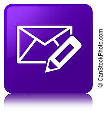 Edit email icon purple square button