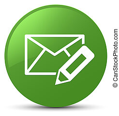 Edit email icon soft green round button