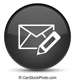 Edit email icon special black round button