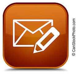 Edit email icon special brown square button
