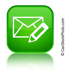 Edit email icon special green square button