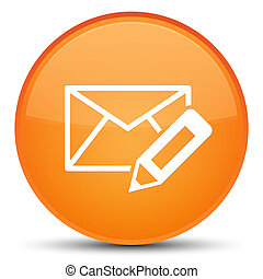 Edit email icon special orange round button