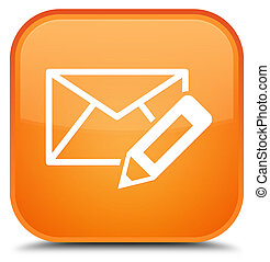 Edit email icon special orange square button
