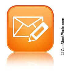 Edit email icon special orange square button