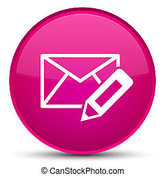Edit email icon special pink round button