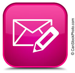 Edit email icon special pink square button