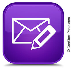 Edit email icon special purple square button