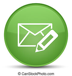 Edit email icon special soft green round button