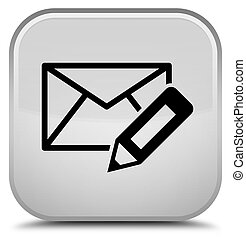 Edit email icon special white square button