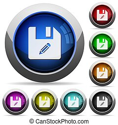 Edit file round glossy buttons