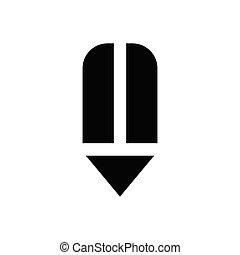 edit  glyph flat icon