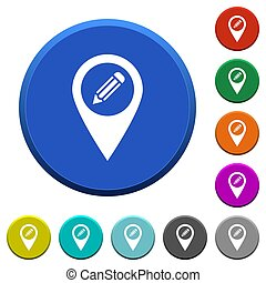 Edit GPS map location beveled buttons