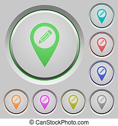 Edit GPS map location push buttons