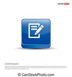 Edit Icon - 3d Blue Button