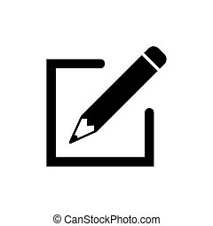 Edit icon in flat style. Simple pen symbol