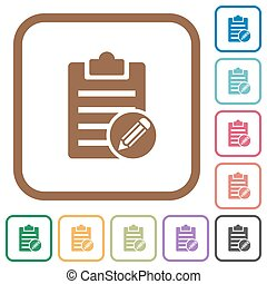 Edit note simple icons