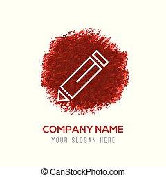 Edit, pencil icon - Red Water Color Circle Splash
