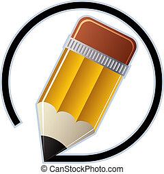 Edit pencil vector icon.
