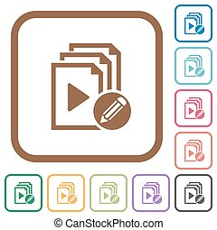 Edit playlist simple icons