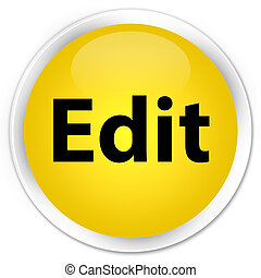 Edit premium yellow round button